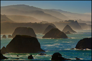 Morning Mist Along The Mendocino Coast Near Elk, California, copyright