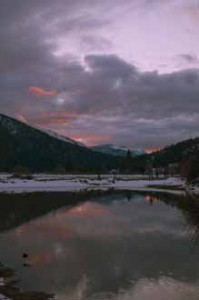 Cloudy Sunset, Genesee Valley, Northern Sierra Nevada, California, copyright 2012 by David Leland Hyde.