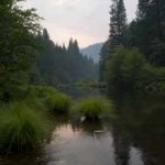 Twilight, Indian Creek, Vertical, Plumas County, Northern Sierra Nevada, California, copyright 2012 by David Leland Hy