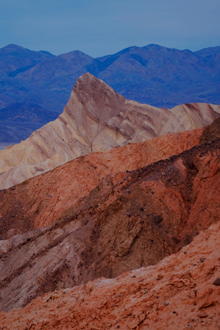 Manly Beacon, Badlands And Panamint Range, Death Valley National Park, Mojave Desert, California, copyright 2009 David Leland Hyde.