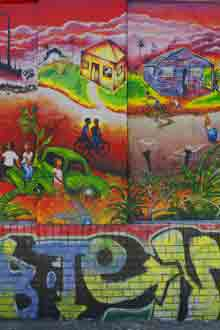 Graffiti, Street Art, Wall, San Francisco, California, copyright 2010 David Leland Hyde. Nikon D90.
