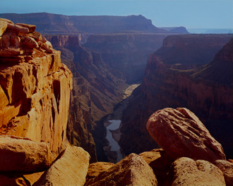 View Up The Colorado River From Toroweap Overlook, Grand Canyon National Park, Arizona, copyright 1964 David Leland Hyde.