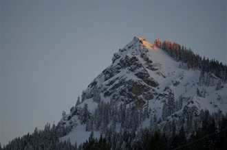 Last Light On Mt. Hough, Plumas County, Northern Sierra Nevada, California, copyright 2009 David Leland Hyde.