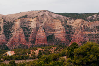 Diamond Mountain And Diamond Gulch Near Fish Hatchery, Dinosaur National Monument, Utah, copyright 2013 David Leland Hyde. Nikon D90.
