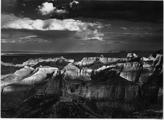 Grand Canyon From Point Imperial, Grand Canyon National Park, Arizona, copyright 1964 Philip Hyde. Primary publicity photograph for This Land Is Our Land Exhibit.