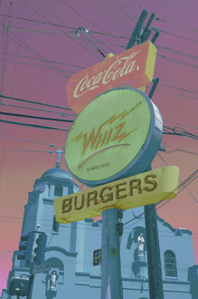 Whiz Burgers, San Francisco, California, Custom, copyright 2010 David Leland Hyde.