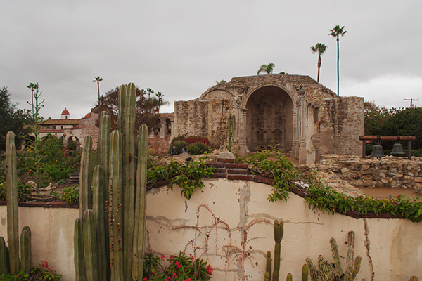 10. Old Mission, San Juan Capistrano, California. I made this one, as I do many photographs, from the tripod platform Dad built on the roof of our family Ford 150 Econoline travel van. You cannot see over the mission wall from street level.