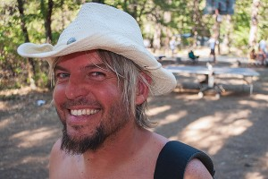 "Wandering Australian Cowboy From The Outback, Family Camp, July 4, Watson's Walking ""G"" Summer Camp, Northern Sierra, California by David Leland Hyde (Click on Image to See Larger.)"