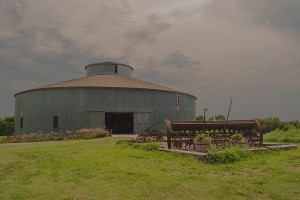 Front Entrance and Second Floor of the Starke Round Barn Near Red Cloud, Nebraska, Midwest #Heartland United States by David Leland Hyde. (Click image to see larger.)