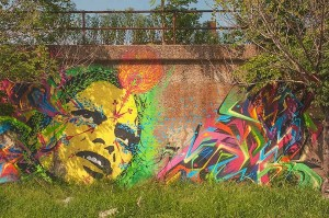 Psychadelic Wall Mural, Chicago, Illinois by David Leland Hyde.