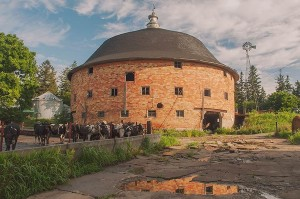 Round Barn Near Conroy, Iowa by David Leland Hyde.